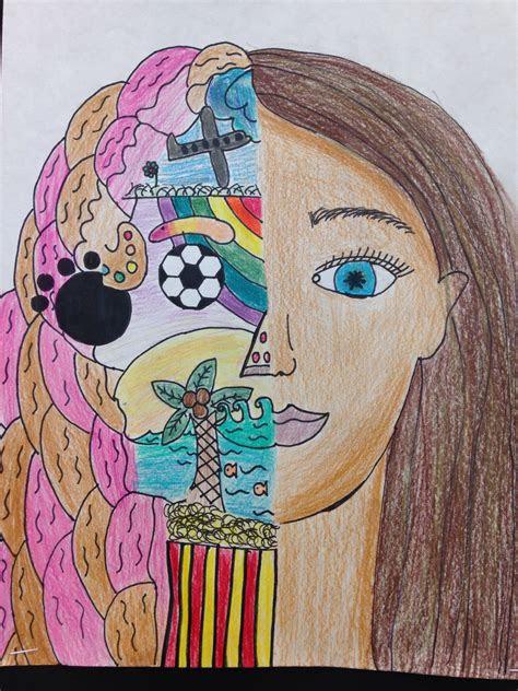 split face  portrait classroom art projects art