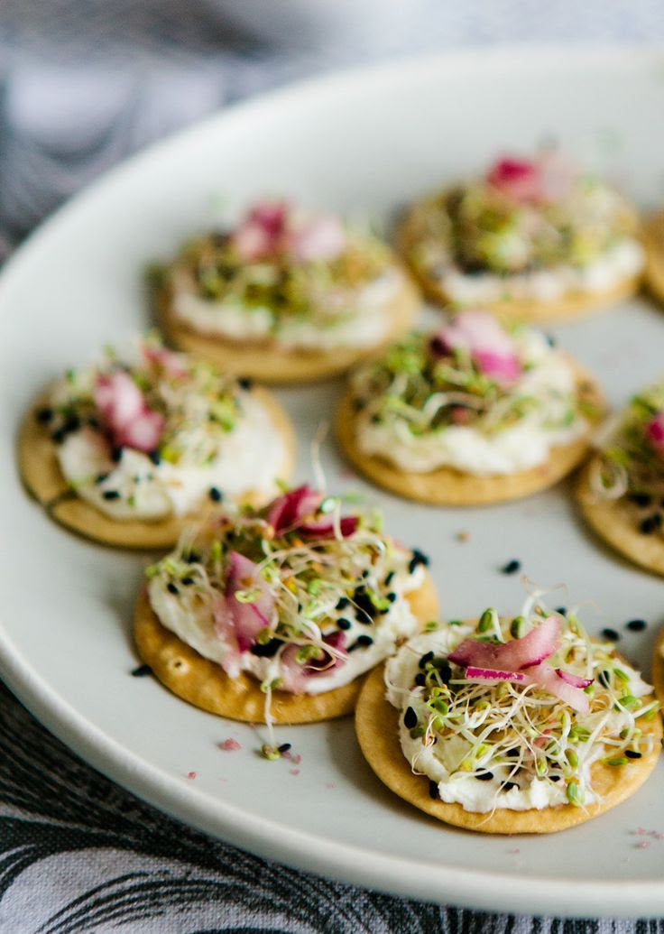 Tea:  Mascarpone Sprout Canapes, with Coconut Pouchong
