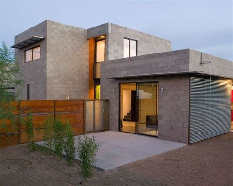 wonderful concrete block house  modern design