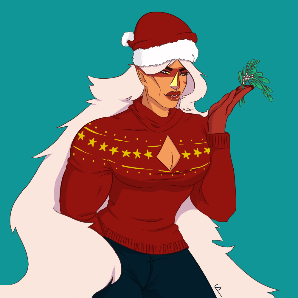 are u ready to smoke weed with jasper i mean kiss her under the mistletoe :^)