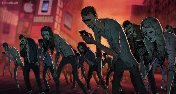 Satirical Illustrations Addiction to Technology11