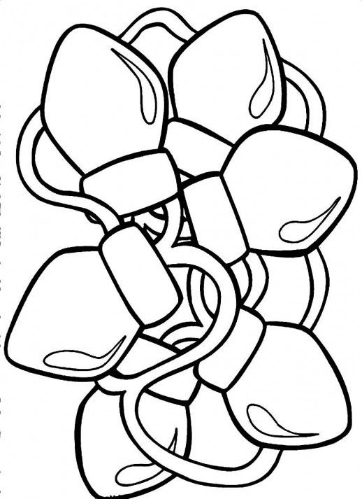 63 Christmas Lights Coloring Pages Printable Images & Pictures In HD