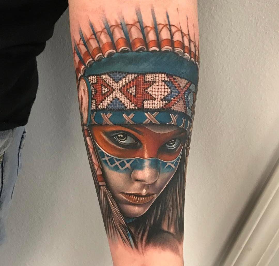 Native American Portrait Best Tattoo Design Ideas