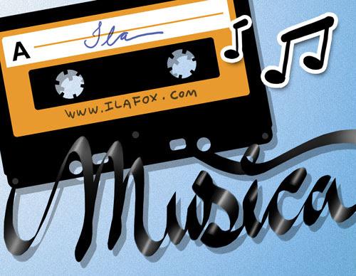 escutar musicas em fitas cassetes ilustração by ila fox