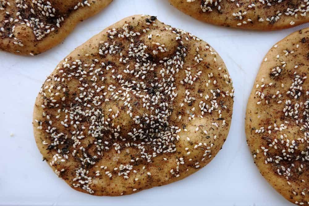 Manakish Za'atar Recipe: Lebanese Flatbread   The Bread ...