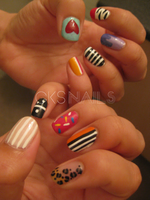 high-on-polish:  mixed nails