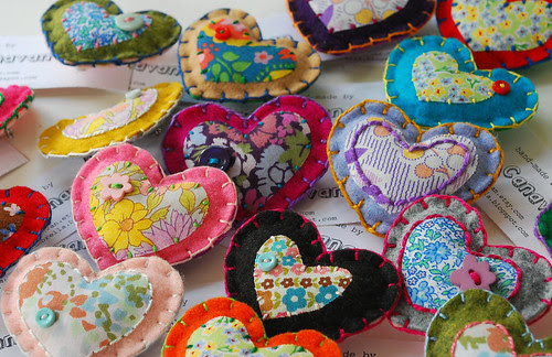 more new heart brooches