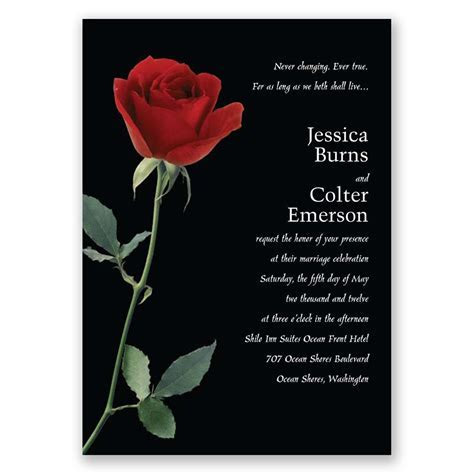 Rose Red Invitation   Invitations By Dawn