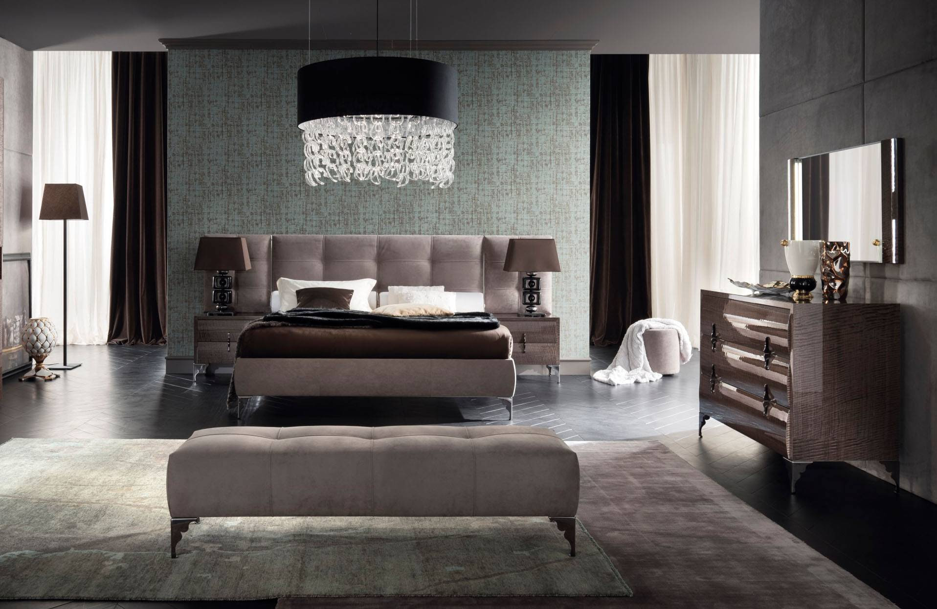 Made in Italy Leather Contemporary Master Bedroom Designs ...