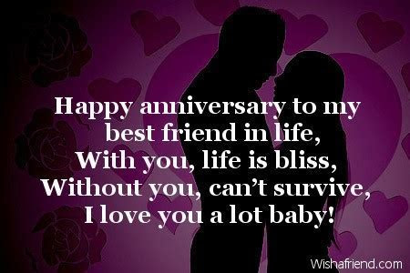 Happy anniversary to my best friend, Happy Anniversary Message