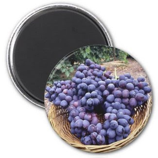 Royal Purple Grapes magnet