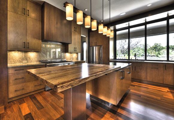 Zebra Wood Kitchen Island - Kitchen - other metro - by J ...