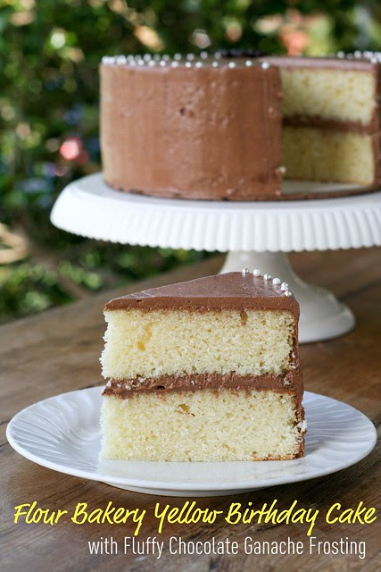 Flour Bakery - Yellow Cake with Fluffy Chocolate Ganache Frosting