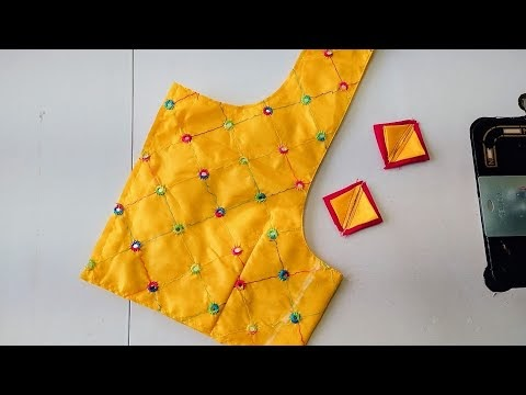 Designer model blouse gala design|silk saree model blouse gala design cu...