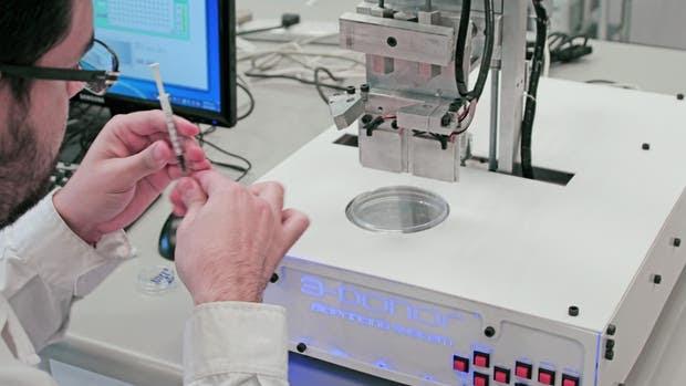 Una impresora de piel 3-Donor