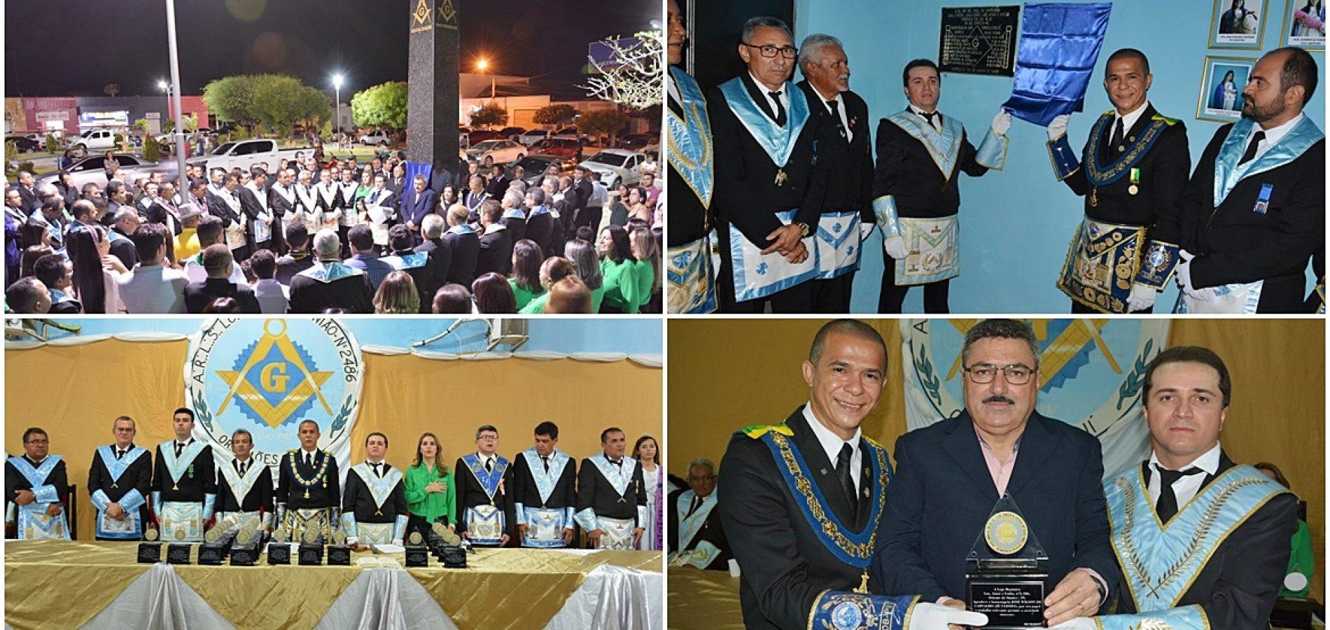 SIMÕES | Loja Maçônica comemora 30 anos com inauguração de obelisco e sessão solene; veja fotos