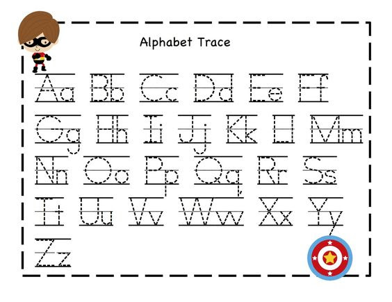 Alphabet Tracing Pages - Scalien