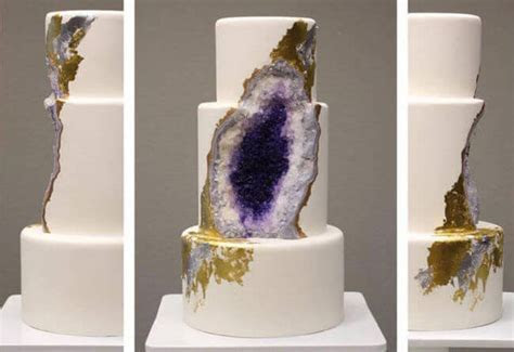 Look At This Amazing Wedding Cake Made From Edible Geode