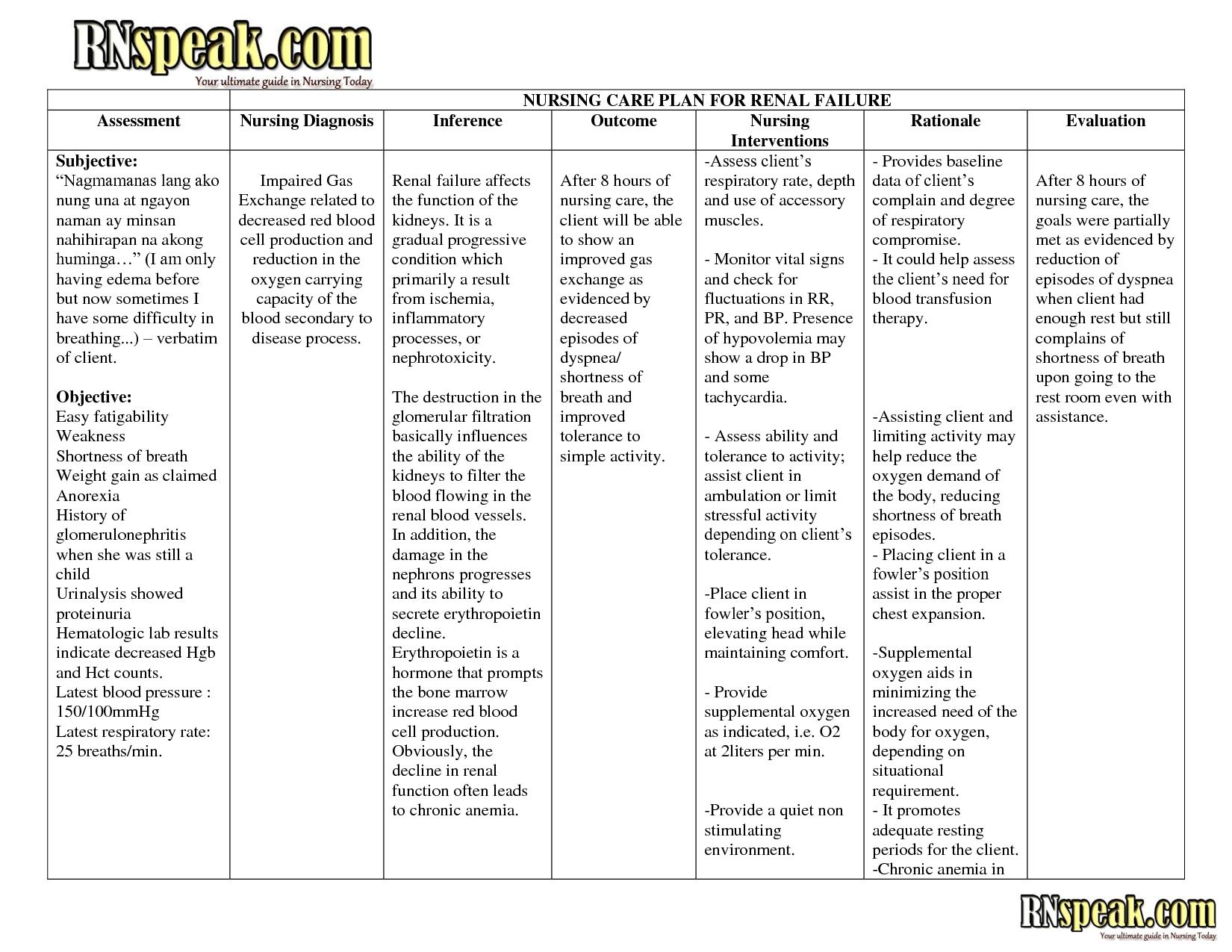 Nursing Care Plan Download Now DOC by chacyn0706 | Nanda ...