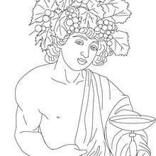 Dibujos Para Colorear Dios Dioniso Dios Griego Del Vino Es