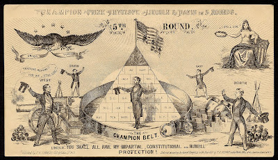 Lincoln v Davis boxing satire - civil war envelope
