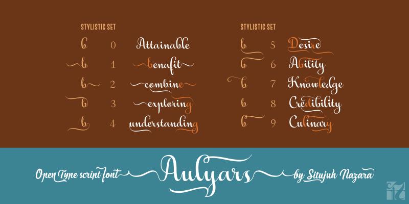Aulyars Script Font