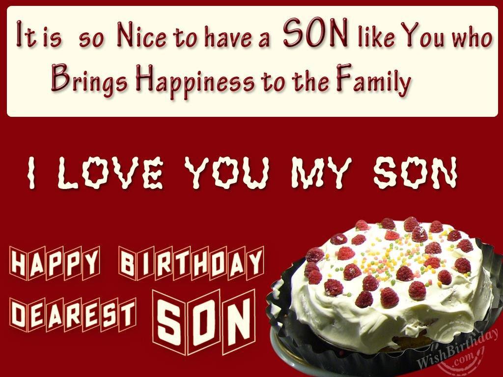 Wishing You Happy Birthday My Loving Son WishBirthday