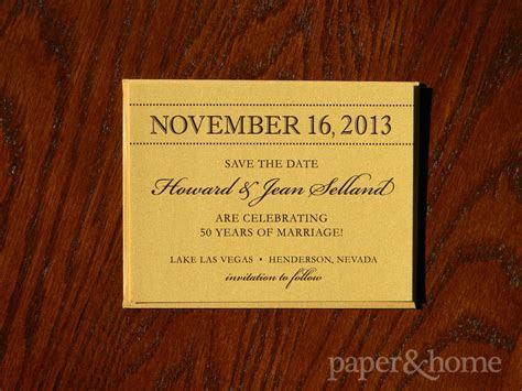 Golden Anniversary Invitations Las Vegas: Jean & Howard