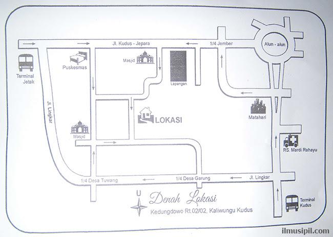 Contoh peta denah lokasi undangan pernikahan - ilmusipil.com