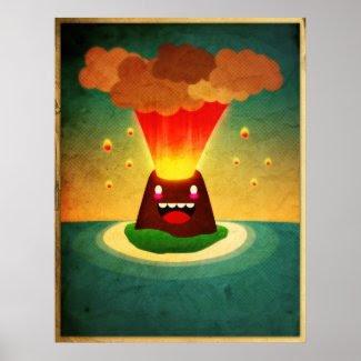 Happy Volcano print