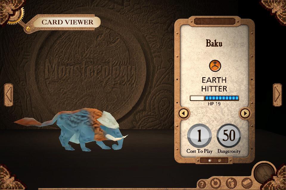 Monsterology monster card
