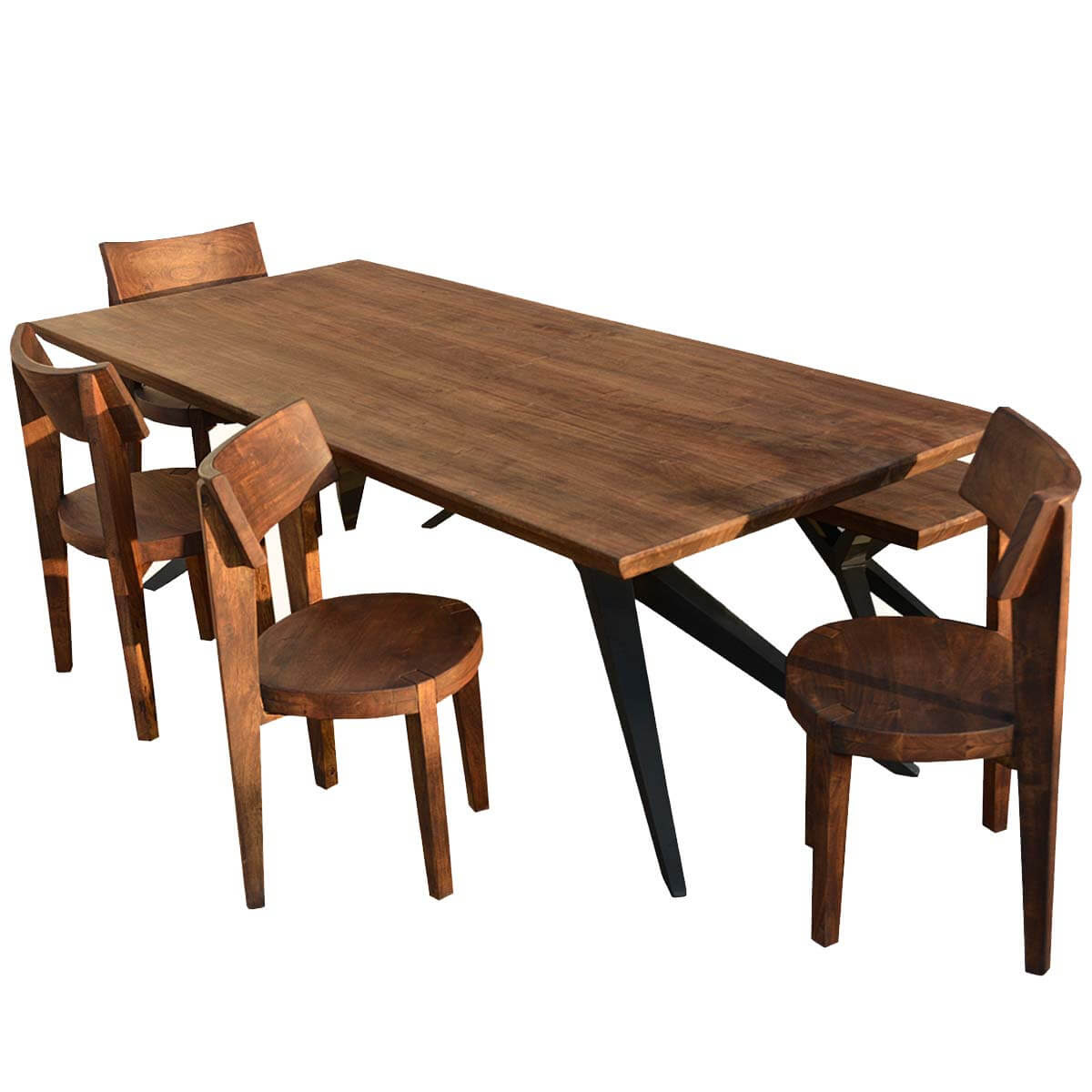 Unique Rustic Urban Loft Industrial Dining Table & Chair ...