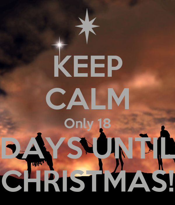 Image result for 18 days till christmas