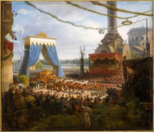 The entry of Charles X into Paris after his coronation on June 6, 1825Louis François Lejene
