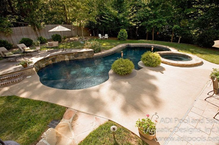 Landscape ideas for pool in backyard