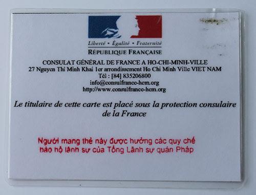 Linscription Consulaire Au Consulat De Saigon