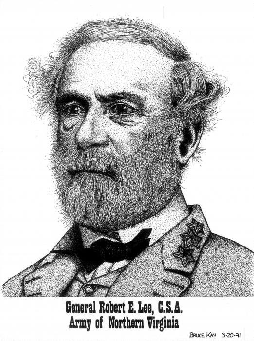 robert e lee. General Robert E. Lee Drawing
