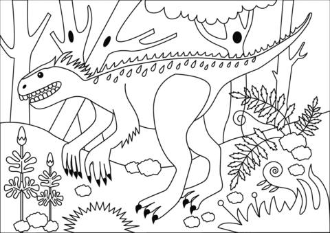 Jurassic World Indominus Rex Dinosaur Coloring Pages Coloring And Drawing