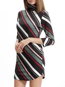 Short Loops Bodycon Belt Print Hem Deep V Neck Dresses Sleeve Asymmetric brands