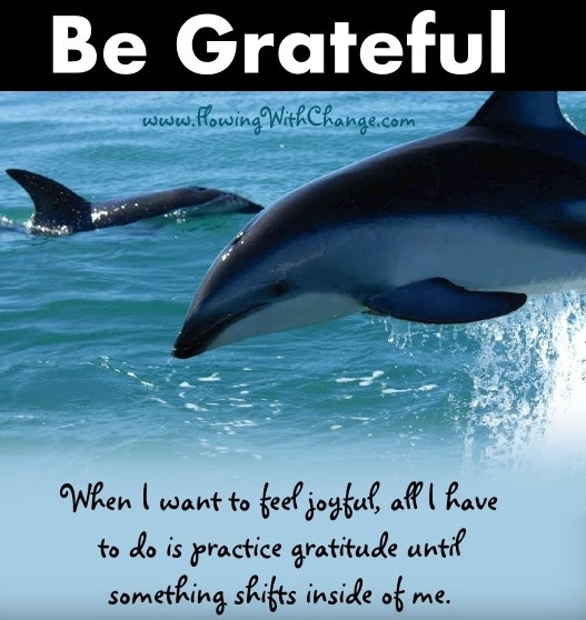 Be grateful quote via www.FlowingwithChange.com