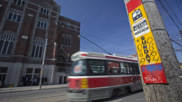 """The TTC is removing Sunday streetcar stops from in front of churches, partly because other places of worship don't get similar special treatment, and, in the words of Brad Ross, """"it's the 21st century."""""""
