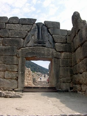 Lion gate in Mycenae