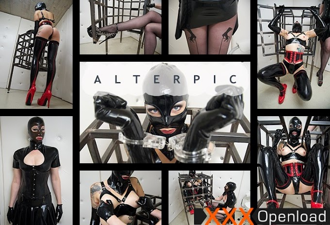 Small Cage – 1/2 Alterpic.com 2019 Anna Rose Fetish, Latex Mask