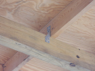 Porch Roof Rafter Cross Beam Hurricane Clips