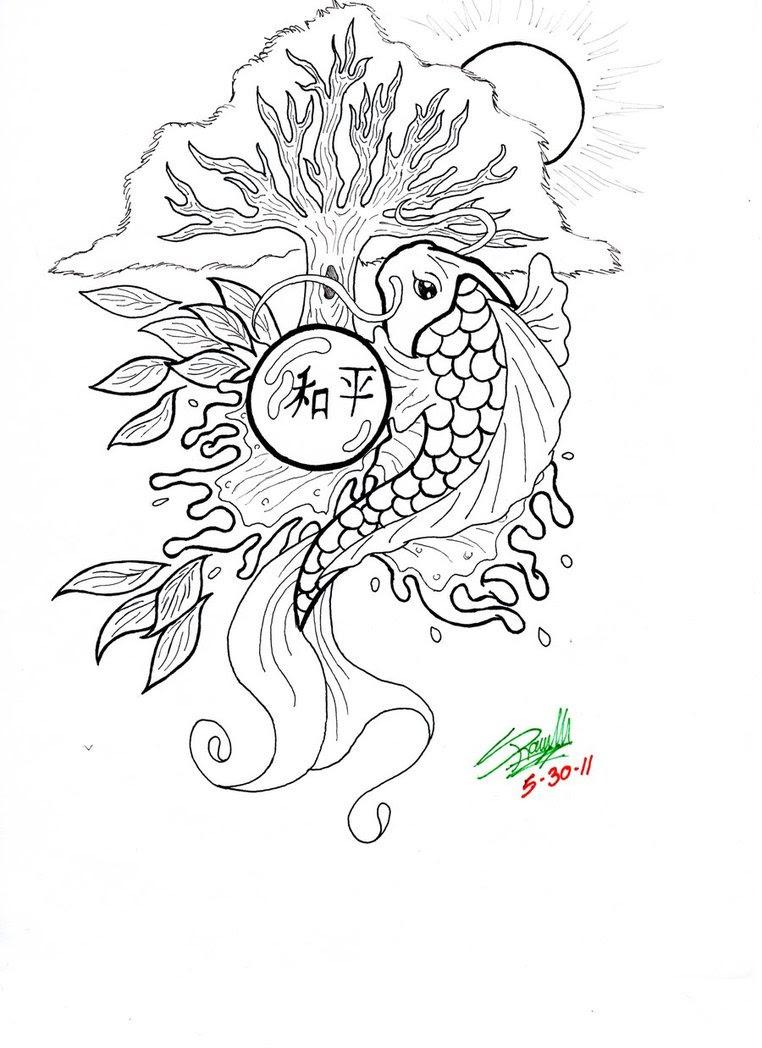 Koi Fish Coloring Page at GetColorings.com   Free ...