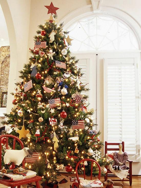 American Pride Christmas Tree