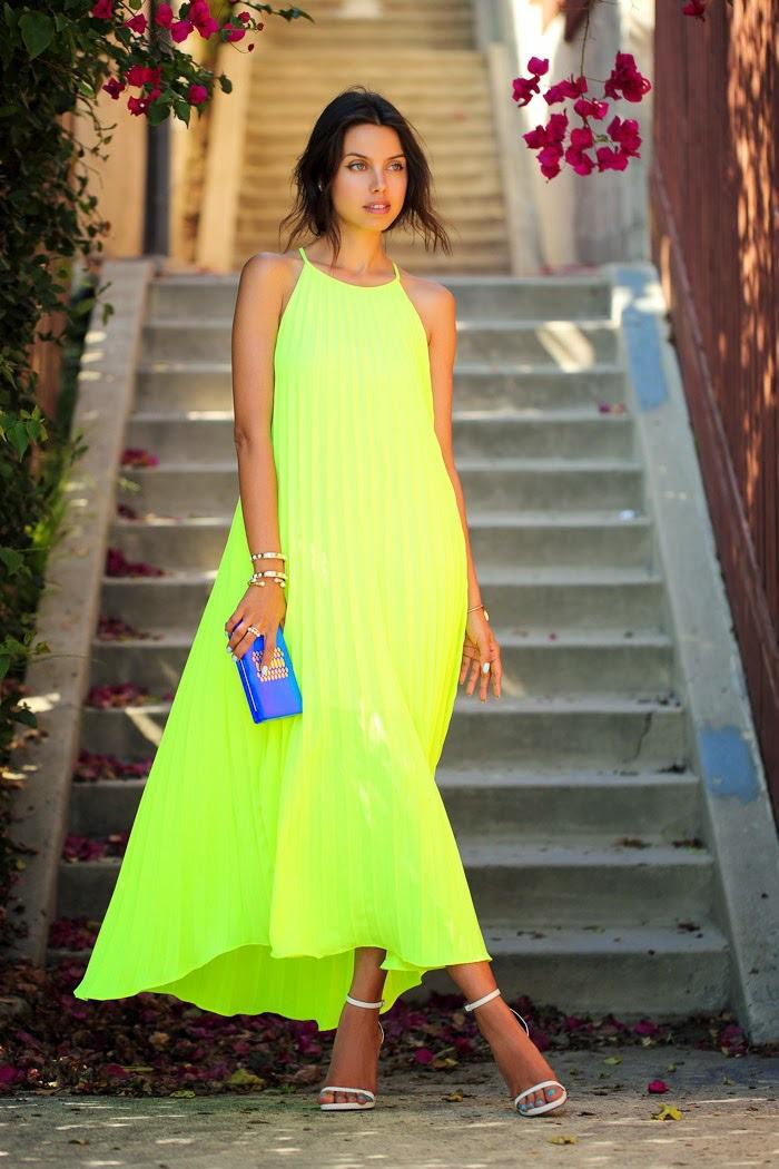 2015 new summer dress women neon plus size desigual maxi