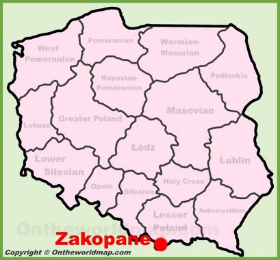 Zakopane Maps Poland Maps Of Zakopane