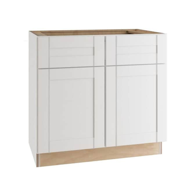 Ideal Cabinetry 33-in W x 34.5-in H x 24-in D Vinyl White ...