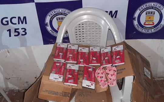 Produtos furtados de loja em Valente foram encontrados com mulher em Queimadas | Foto: Notícias de Santaluz